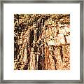 Rugged Vertical Cliff Face Framed Print