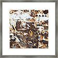 Rust And Torn Paper Posters Framed Print