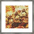 Rusty Shark Scene Framed Print