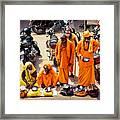 Sadhu Near The Thirupparamkunram Murugan Temple Framed Print