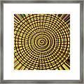 Saguaro Cactus Top Abstract #4 Framed Print