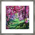 Sakura Romance Framed Print by David Lloyd Glover