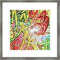 Salamander And Butterfly Framed Print