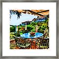 San Clemente Estate Patio 2 Framed Print by Kathy Tarochione