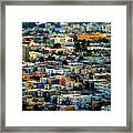 San Francisco California Scenic  Rooftop Landscape Framed Print