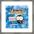 Santa's Workshop Penguin Framed Print