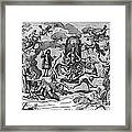 Satan With Cavorting Dancers, 18th Framed Print