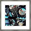 Saturated Chrome Framed Print