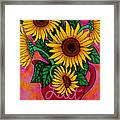 Saturday Morning Sunflowers Framed Print