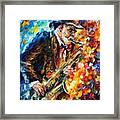 Saxophonist Framed Print