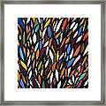 School Of Anchovies Abstract 2 Framed Print