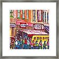 Schwartz's Smoked Meat Deli On The Main Montreal Hockey Art Scenes School Bus Painting C Spandau Art Framed Print