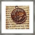 Scorpio Parchment Framed Print