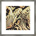 Sea Abstract From The Nautics  Framed Print