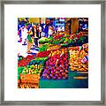 Seattle Farmers Market 2 Framed Print