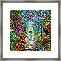 Secret Garden Oil Painting - B. Sasik Framed Print