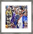 Senior Traditional Women Framed Print