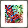 Serape On Wrought Iron Chair I Framed Print