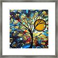 Serenity Falls By Madart Framed Print by Megan Duncanson