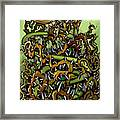 Serpent N Thorns Framed Print