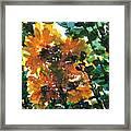 Shadows Of Sunflowers Framed Print