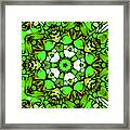 Shamrock Pattern Framed Print