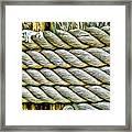 Ship Rope Anchored Framed Print
