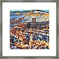 Silent City Snowy Sunrise Framed Print
