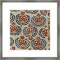 Silk Embroidered Linen Panel Framed Print