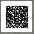 Silver Leaf Pattern 2 Framed Print