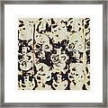 Silver Skull Art Framed Print