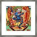 Simhamukha - Lion Face Dakini Framed Print