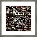 Simple Speak Dining Framed Print