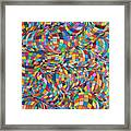 Simply Red - Euclidian Curvatures Framed Print