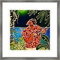 Sing Hanalei Moon Framed Print by Angela Treat Lyon