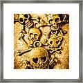 Skulls And Crossbones Framed Print
