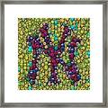 Smiley Face Yankees Mosaic Framed Print