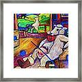 Smoko At The Sheep Shearing Shed Framed Print