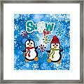 Snow Fun Penguins Framed Print