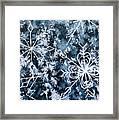 Snowflake Greetings Framed Print