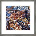 Snowy Hoodoos Framed Print