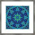 So Blue - 04v2 - Mandala Framed Print