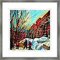 Softly Snowing Framed Print