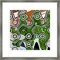 Some Pink And Green Abstract Framed Print