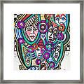 Sooooooo Many Faces Framed Print