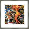 Southern California - United Air Lines - Retro Travel Poster - Vintage Poster Framed Print