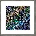 Spectrum Grid Framed Print