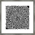Spinning Optical Illusion Maze Framed Print