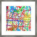Splatter Paint Framed Print