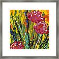 Spring Tulips Triptych Panel 2 Framed Print
